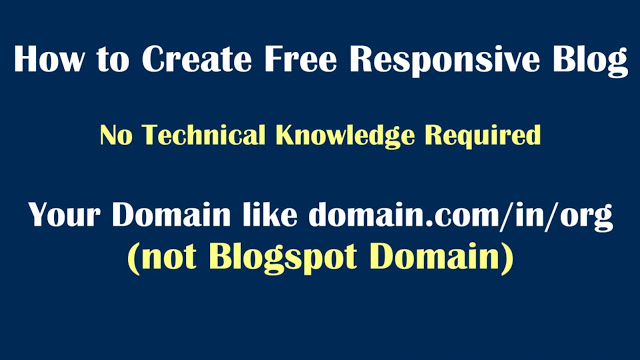 How to create a blog on Blogger with custom domain setup