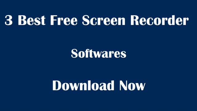 3 Free Desktop Screen Recorder Software with audio for Youtubers