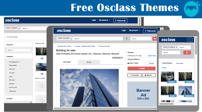 Top Free Osclass Classifieds Theme 2021 (Osclass Themes Free Download)